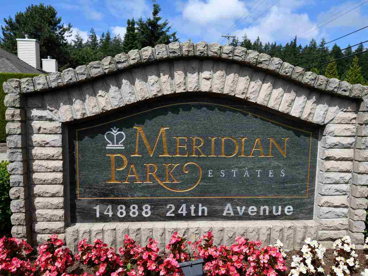 "Main Photo: 23 14888 24 Avenue in Surrey: Sunnyside Park Surrey Townhouse for sale in ""Meridian Park Estates"" (South Surrey White Rock)  : MLS®# R2381989"