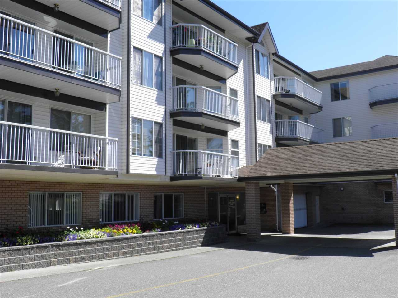 "Main Photo: 307 33535 KING Road in Abbotsford: Poplar Condo for sale in ""Central Heights Manor"" : MLS®# R2198545"