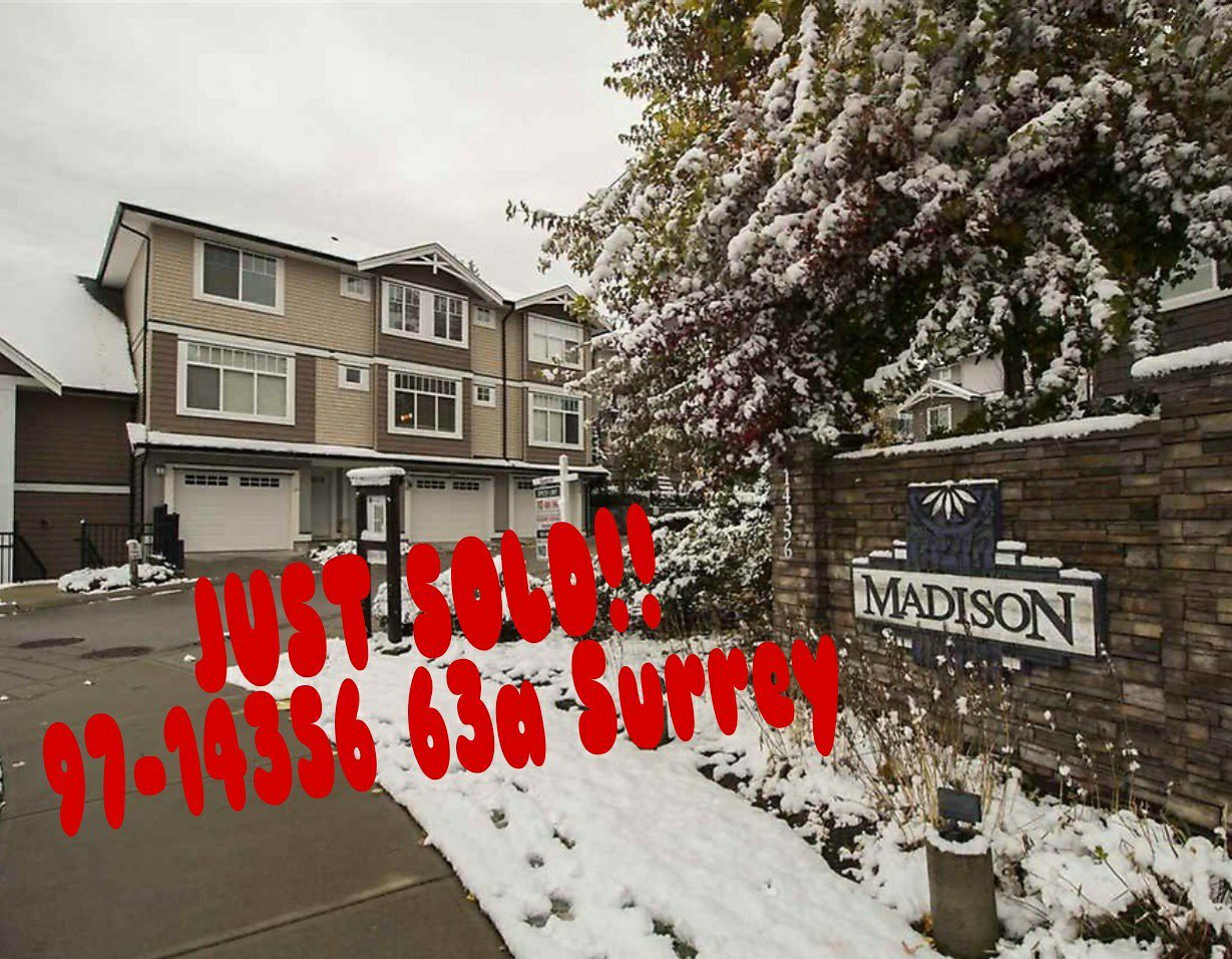 Main Photo: 97 14356 63a in surrey: Townhouse for sale (Surrey)  : MLS®# R2226080