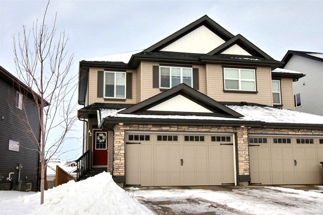 Main Photo: 43 Avebury Court: Sherwood Park House Half Duplex for sale : MLS®# E4186761
