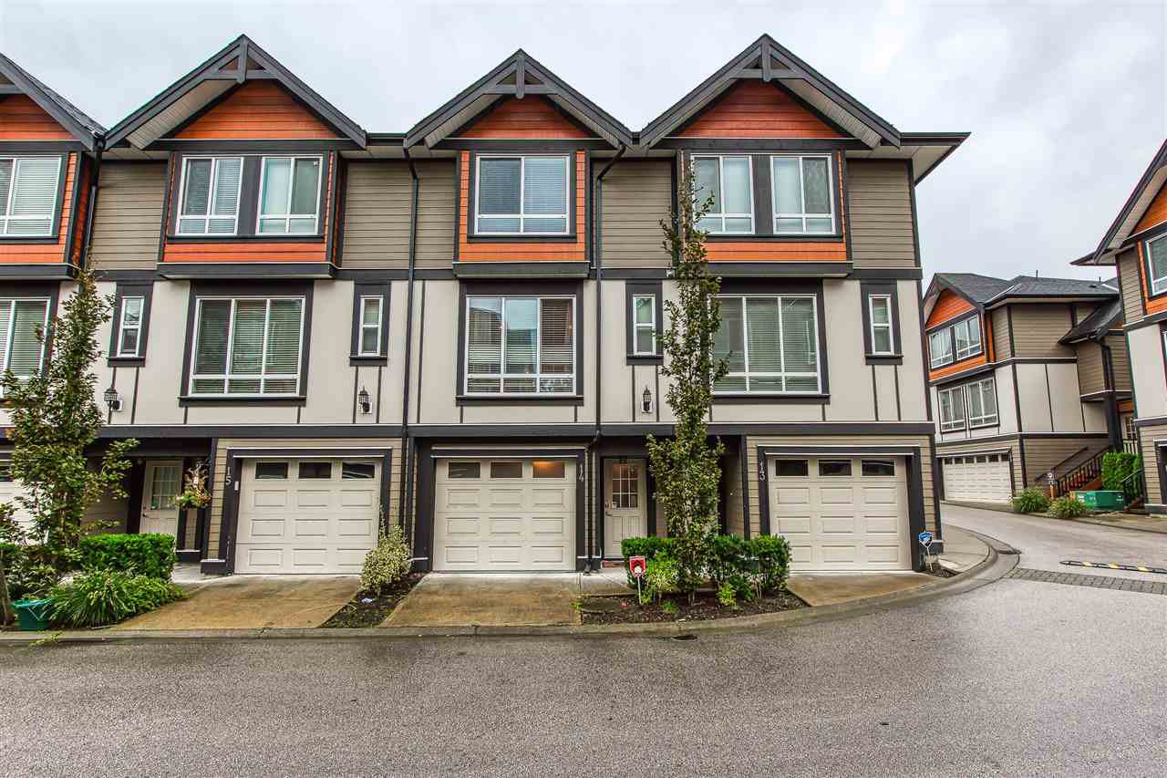 Main Photo: 14 6378 142 Street in Surrey: Sullivan Station Townhouse for sale : MLS®# R2407160