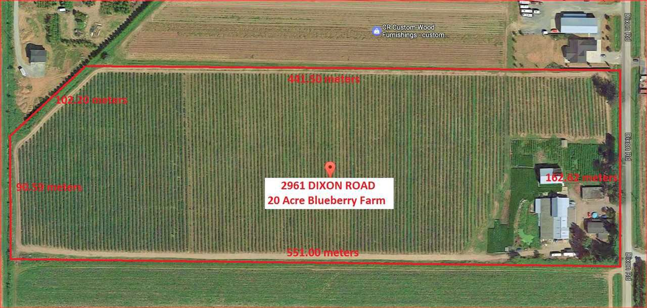 Main Photo: 2961 DIXON Road in Abbotsford: Sumas Prairie Agri-Business for sale : MLS®# C8011233