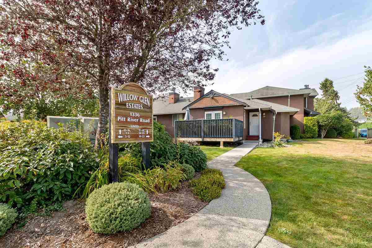 "Main Photo: 20 1336 PITT RIVER Road in Port Coquitlam: Citadel PQ Townhouse for sale in ""WILLOW GLEN ESTATES"" : MLS®# R2498606"