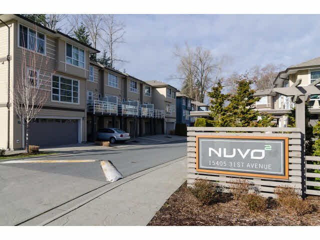 """Main Photo: 1 15405 31ST Avenue in Surrey: Grandview Surrey Townhouse for sale in """"NUVO 2"""" (South Surrey White Rock)  : MLS®# F1430709"""
