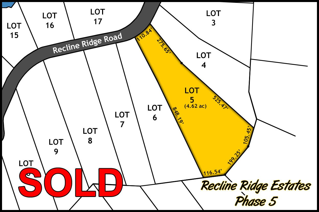 Main Photo: Lot 5 Recline Ridge Road in Tappen: Land Only for sale : MLS®# 10176931