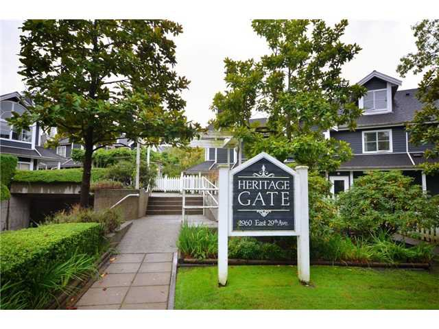 "Main Photo: 223 2960 E 29TH Avenue in Vancouver: Collingwood VE Condo for sale in ""HERITAGE GATE"" (Vancouver East)  : MLS®# V913004"