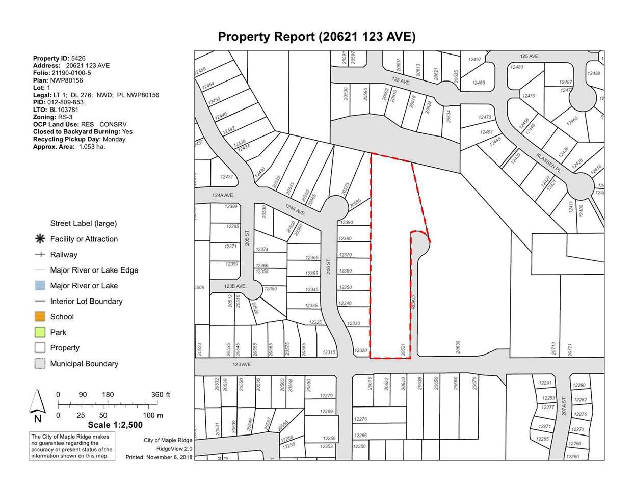 Main Photo: 20621 123 Avenue in Maple Ridge: Northwest Maple Ridge Land for sale : MLS®# R2322486
