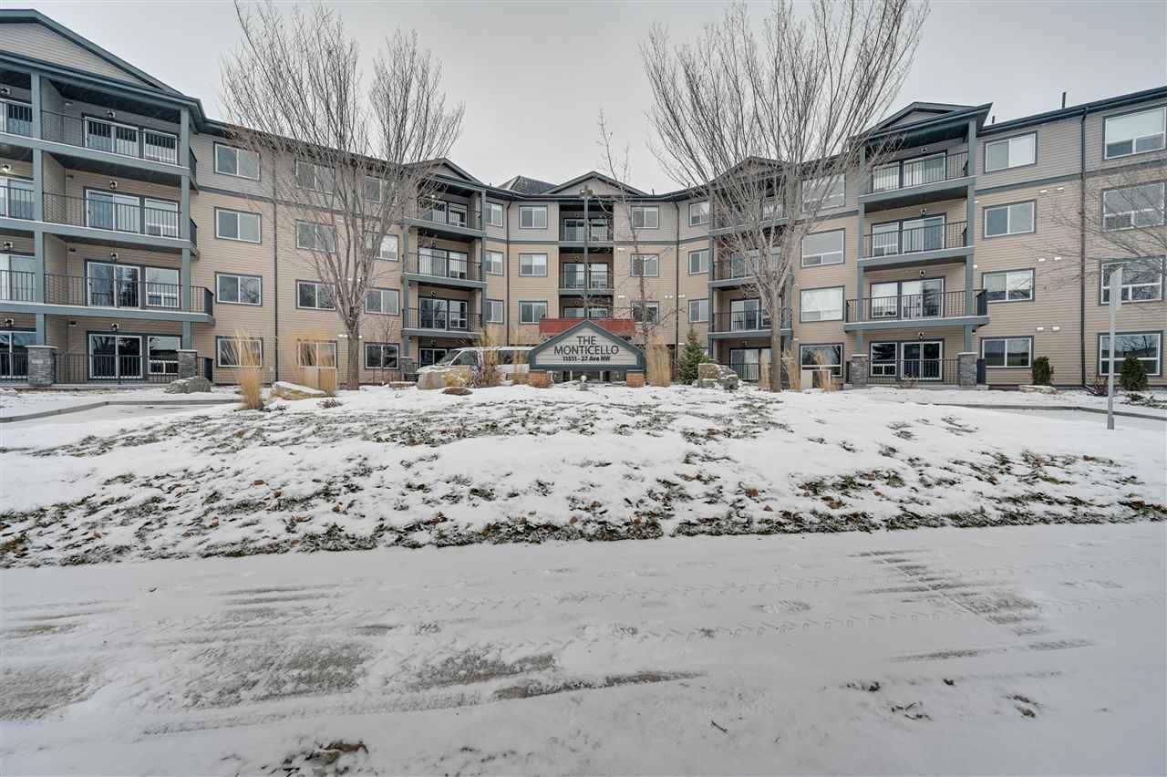 Main Photo: 313 11511 27 Avenue in Edmonton: Zone 16 Condo for sale : MLS®# E4181404