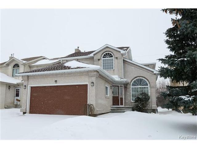Main Photo: 73 Branson Crescent in WINNIPEG: Fort Garry / Whyte Ridge / St Norbert Residential for sale (South Winnipeg)  : MLS®# 1501009