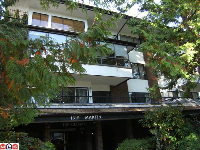"Main Photo: 310 1319 MARTIN Street: White Rock Condo for sale in ""The Cedars"" (South Surrey White Rock)  : MLS®# F1127687"