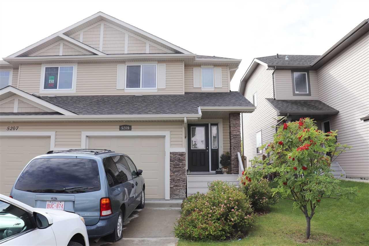 Main Photo: 5209 168 Avenue in Edmonton: Zone 03 House Half Duplex for sale : MLS®# E4174412