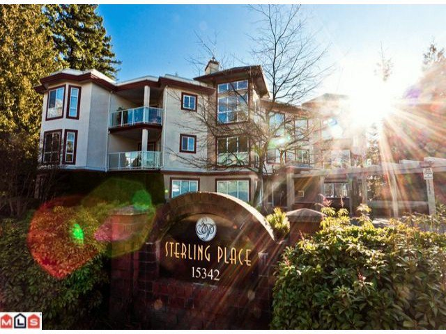 "Main Photo: 102 15342 20TH Avenue in Surrey: King George Corridor Condo for sale in ""STERLING PLACE"" (South Surrey White Rock)  : MLS®# F1200970"