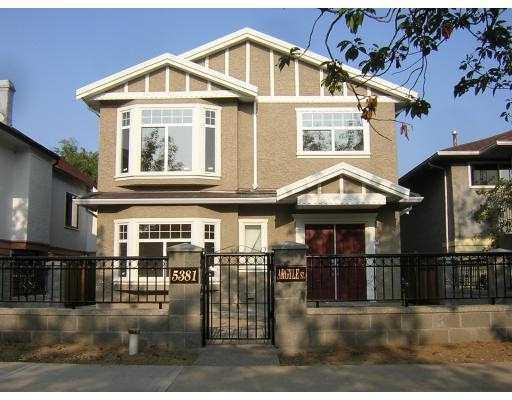 Main Photo:  in Vancouver: Knight Home for sale ()  : MLS®# V622169