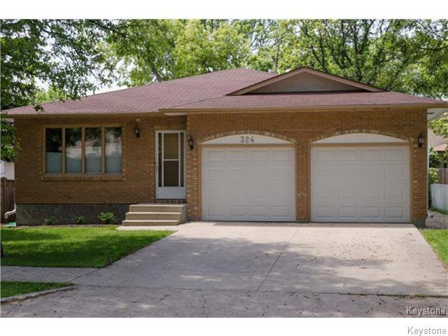 Main Photo: 324 Mandeville Street in WINNIPEG: St James Residential for sale (West Winnipeg)  : MLS®# 1524722