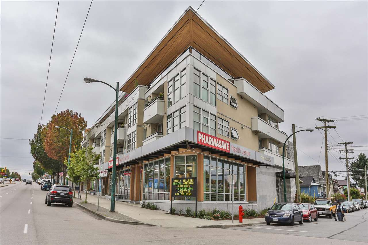 "Main Photo: 406 4338 COMMERCIAL Street in Vancouver: Victoria VE Condo for sale in ""TRIO"" (Vancouver East)  : MLS®# R2097570"
