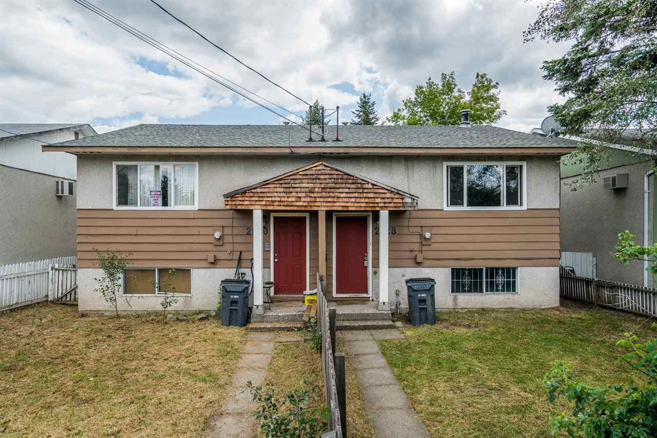 Main Photo: 2220 - 2228 VICTORIA Street in Prince George: VLA House Duplex for sale (PG City Central (Zone 72))  : MLS®# R2387128