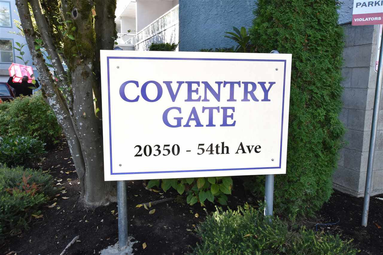 """Main Photo: 109 20350 54 Avenue in Langley: Langley City Condo for sale in """"Coventry Gate"""" : MLS®# R2221883"""