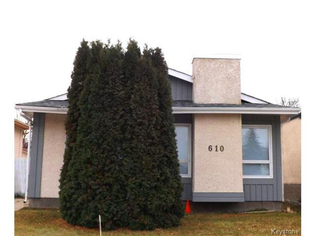 Photo 1: Photos: 610 Springfield Road in WINNIPEG: North Kildonan Residential for sale (North East Winnipeg)  : MLS®# 1427546