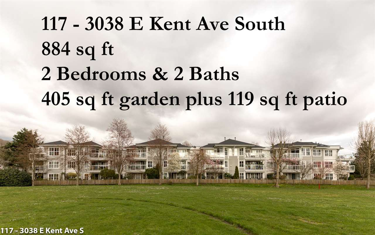 "Main Photo: 117 3038 E KENT AVENUE SOUTH Avenue in Vancouver: Fraserview VE Condo for sale in ""SOUTHAMPTON"" (Vancouver East)  : MLS®# R2154472"