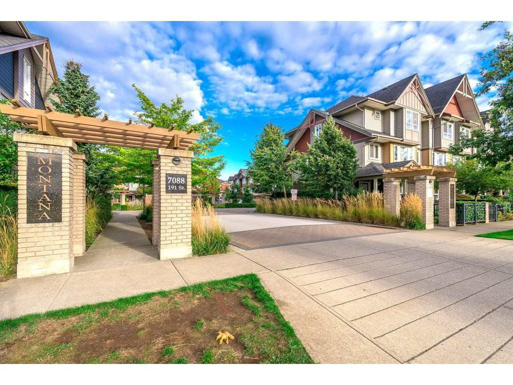 """Main Photo: 65 7088 191 Street in Surrey: Clayton Townhouse for sale in """"Montana"""" (Cloverdale)  : MLS®# R2357208"""