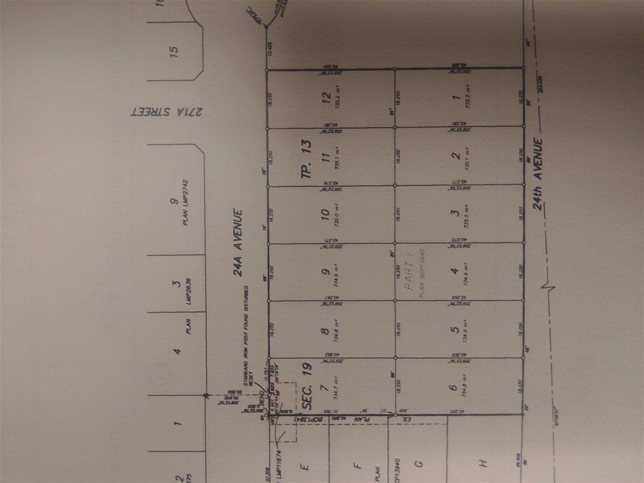 Main Photo: LT.6 24 AVENUE in Langley: Aldergrove Langley Land for sale : MLS®# R2319352