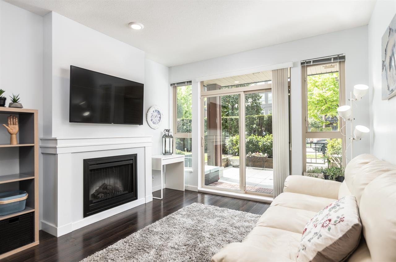 Main Photo: 112 1153 KENSAL Place in Coquitlam: New Horizons Condo for sale : MLS®# R2366302