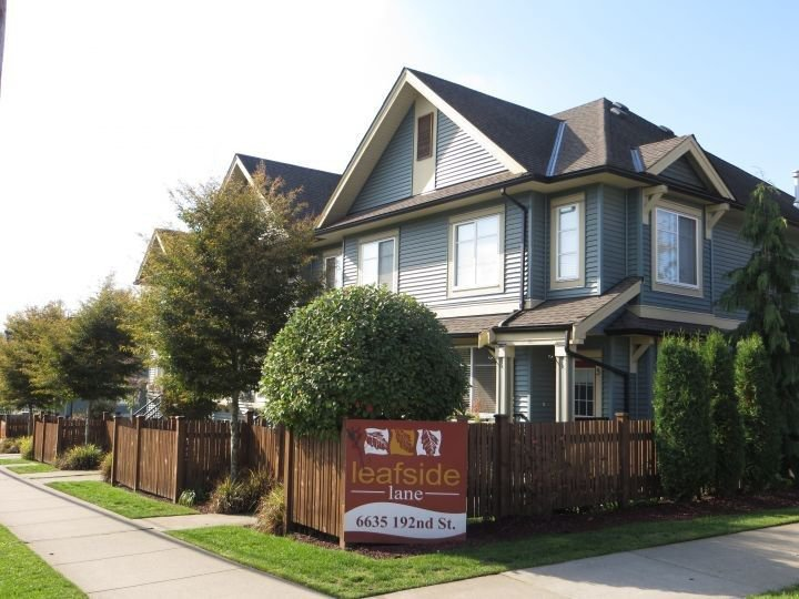 "Main Photo: 5 6635 192 Street in Surrey: Clayton Townhouse for sale in ""Leaf Side"" (Cloverdale)  : MLS®# R2209780"