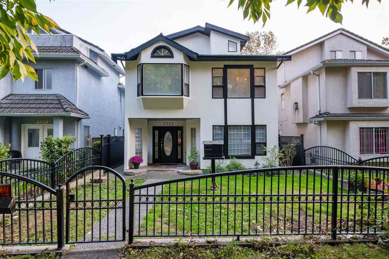Main Photo: 3522 WILLIAM Street in Vancouver: Renfrew VE House for sale (Vancouver East)  : MLS®# R2506670