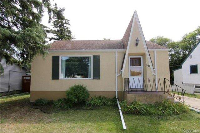 Main Photo: 60 Pilgrim Avenue in Winnipeg: St Vital Residential for sale (2D)  : MLS®# 1723055