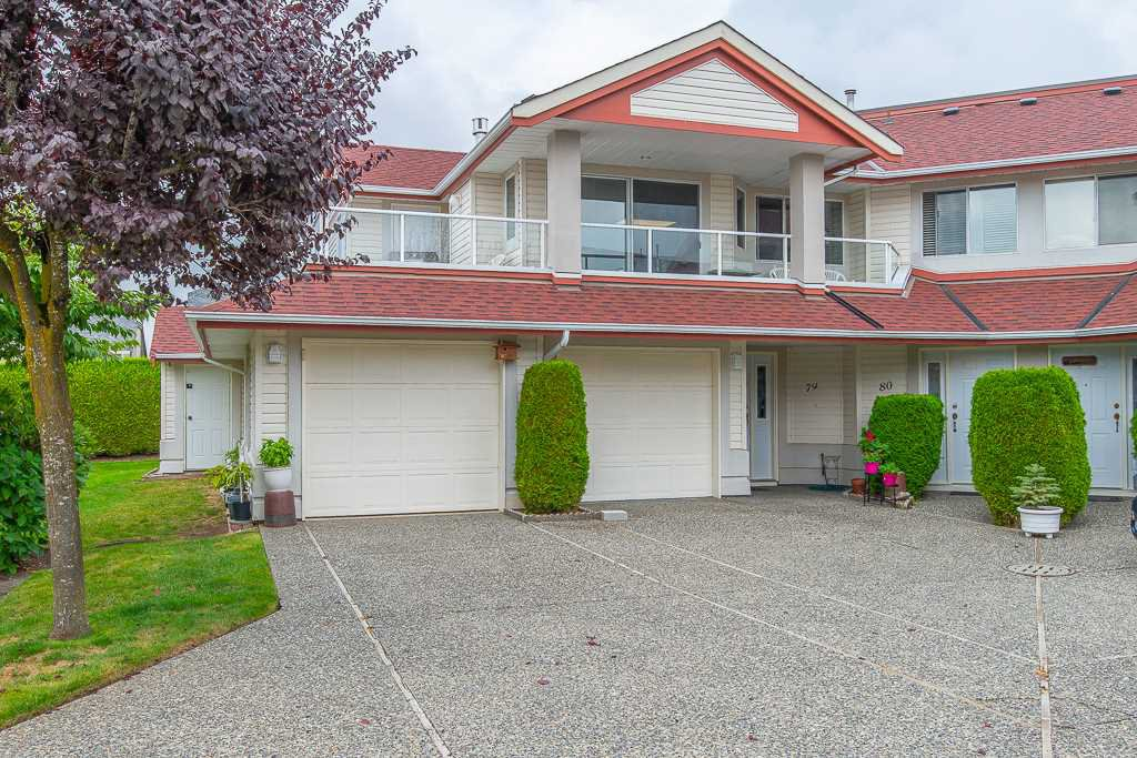 "Main Photo: 80 31406 UPPER MACLURE Road in Abbotsford: Abbotsford West Townhouse for sale in ""Ellwood Estates"" : MLS®# R2404320"