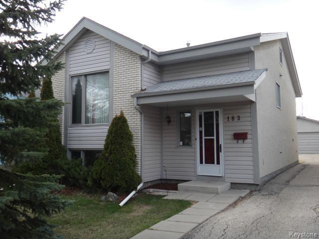 Main Photo: 183 Goldthorpe Crescent in WINNIPEG: St Vital Residential for sale (South East Winnipeg)  : MLS®# 1410836