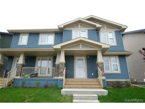 Main Photo: 4417 GREEN POPLAR Lane East in Regina: Greens on Gardiner Semi-Detached for sale (Regina Area 04)  : MLS®# 524372
