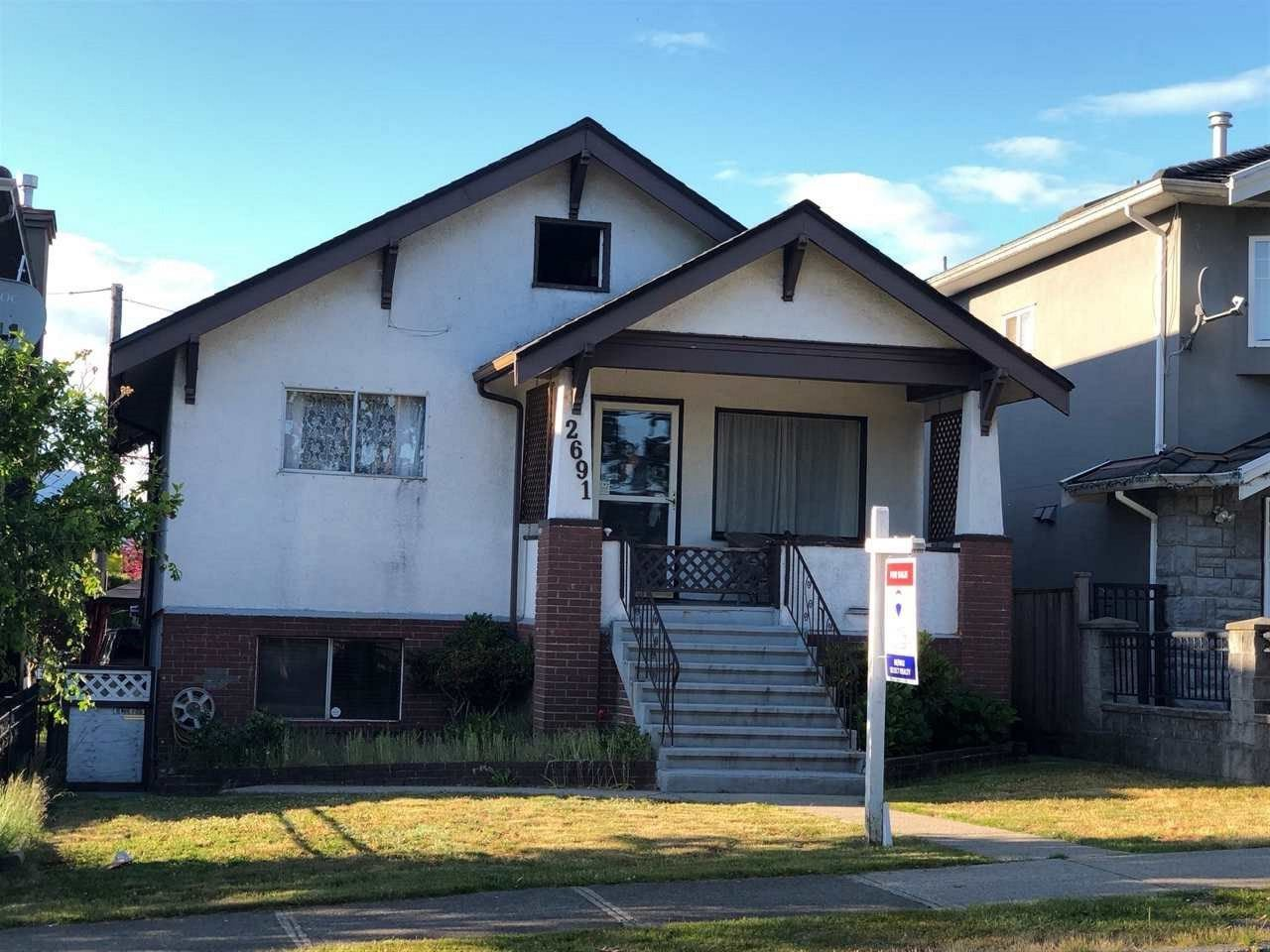 Main Photo: 2691 GRANT Street in Vancouver: Renfrew VE House for sale (Vancouver East)  : MLS®# R2293083