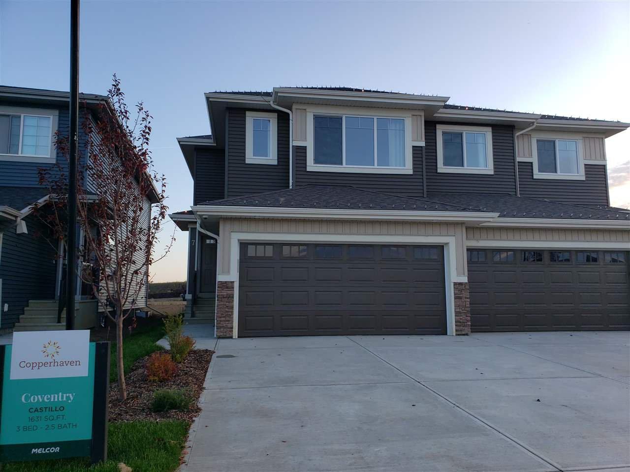 Main Photo: 7 CALEDON Crescent: Spruce Grove House Half Duplex for sale : MLS®# E4173985
