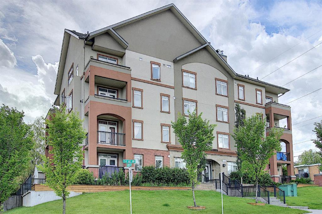 Main Photo: 402 2419 CENTRE Street NW in Calgary: Tuxedo Park Apartment for sale : MLS®# A1022819