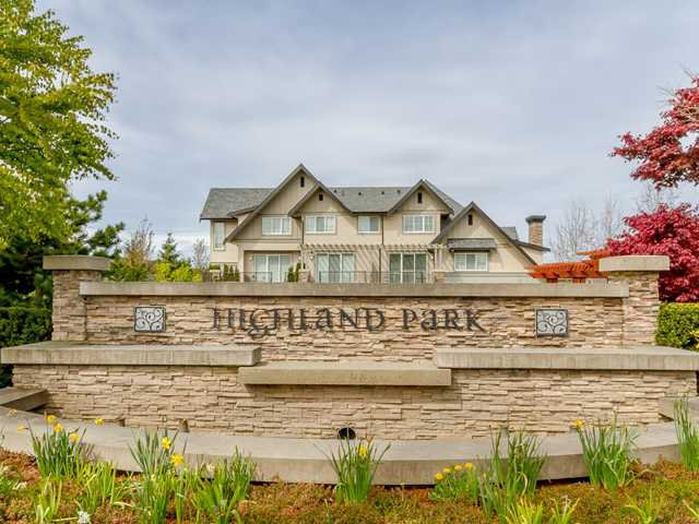 "Main Photo: 91 2501 161A Street in Surrey: Grandview Surrey Townhouse for sale in ""HIGHLAND PARK"" (South Surrey White Rock)  : MLS®# F1410898"