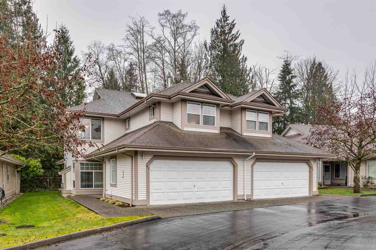 "Main Photo: 67 9025 216 Street in Langley: Walnut Grove Townhouse for sale in ""CONVENTRY WOODS"" : MLS®# R2356980"