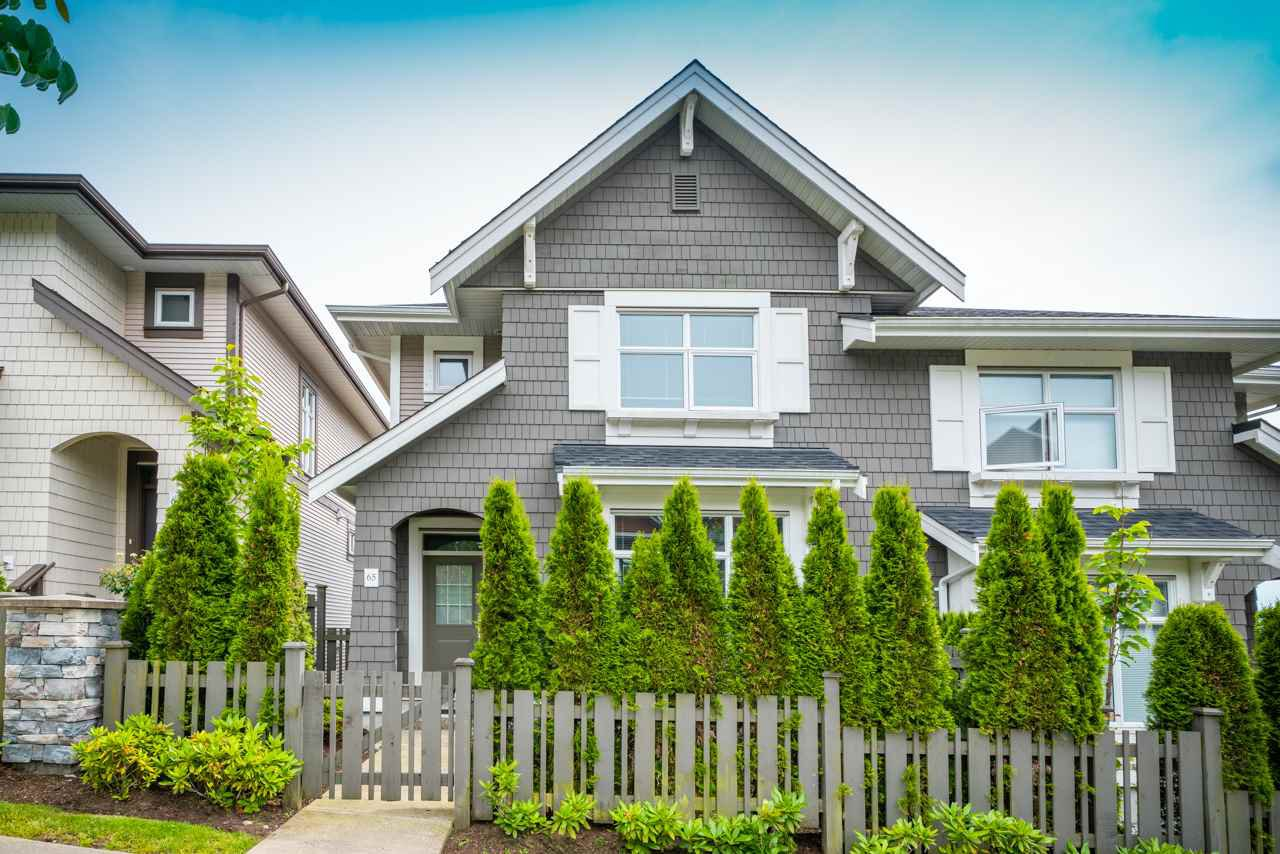 Main Photo: 65 3400 DEVONSHIRE Avenue in Coquitlam: Burke Mountain Townhouse for sale : MLS®# R2467171