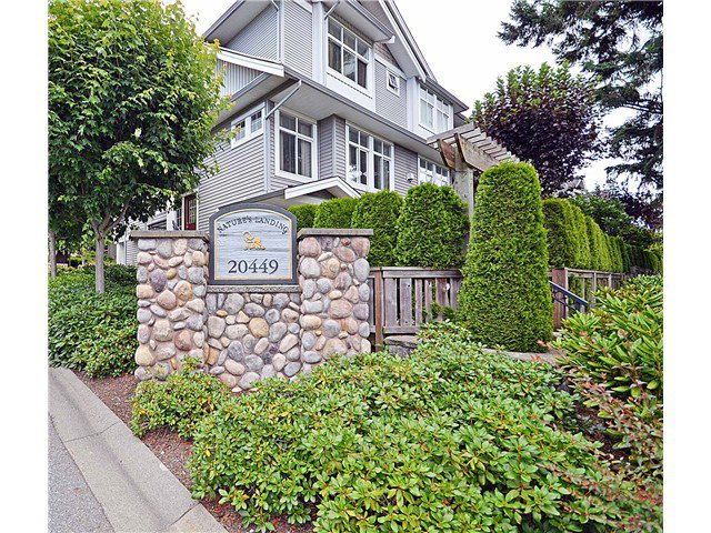 "Main Photo: 125 20449  66TH AV in Langley: Willoughby Heights Townhouse for sale in ""Nature's Landing"" : MLS®# F1302234"