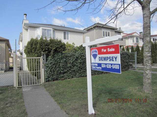 "Main Photo: 8511 LAUREL Street in Vancouver: Marpole House 1/2 Duplex for sale in ""MARPOLE"" (Vancouver West)  : MLS®# V1054278"