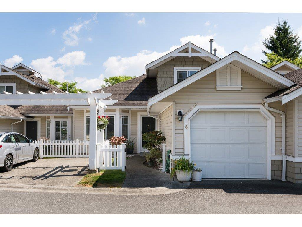 """Main Photo: 8 6488 168 Street in Surrey: Cloverdale BC Townhouse for sale in """"Turnberry Estates"""" (Cloverdale)  : MLS®# R2098521"""