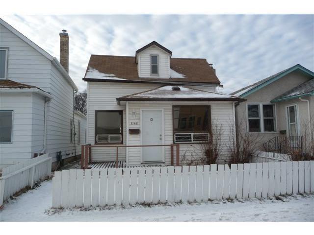 Main Photo: 1148 Garfield Street North in WINNIPEG: West End / Wolseley Residential for sale (West Winnipeg)  : MLS®# 1200133