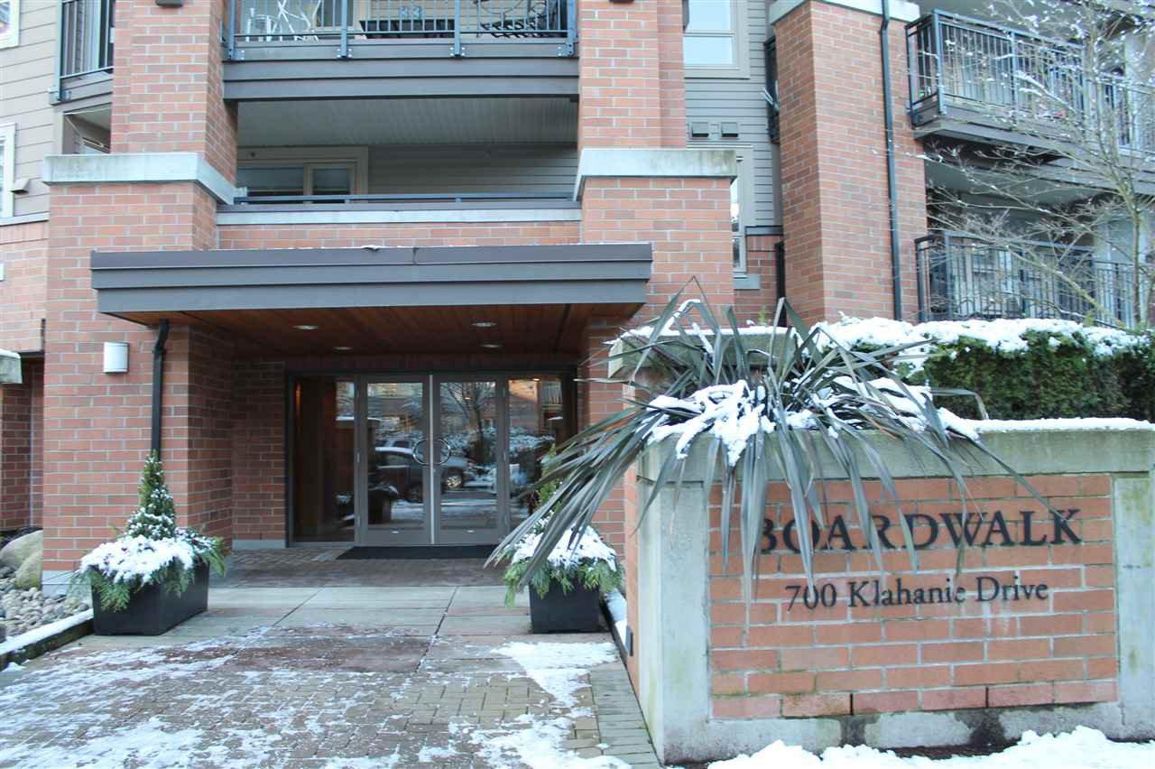 "Main Photo: 211 700 KLAHANIE Drive in Port Moody: Port Moody Centre Condo for sale in ""BOARDWALK AT KLAHANIE"" : MLS®# R2126947"
