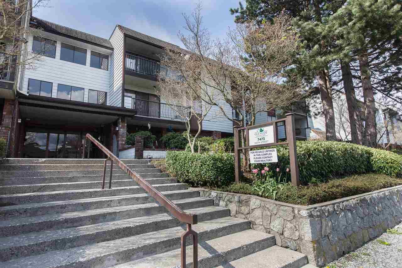 "Main Photo: 302 7473 140 Street in Surrey: East Newton Condo for sale in ""Glencoe Estates"" : MLS®# R2244158"