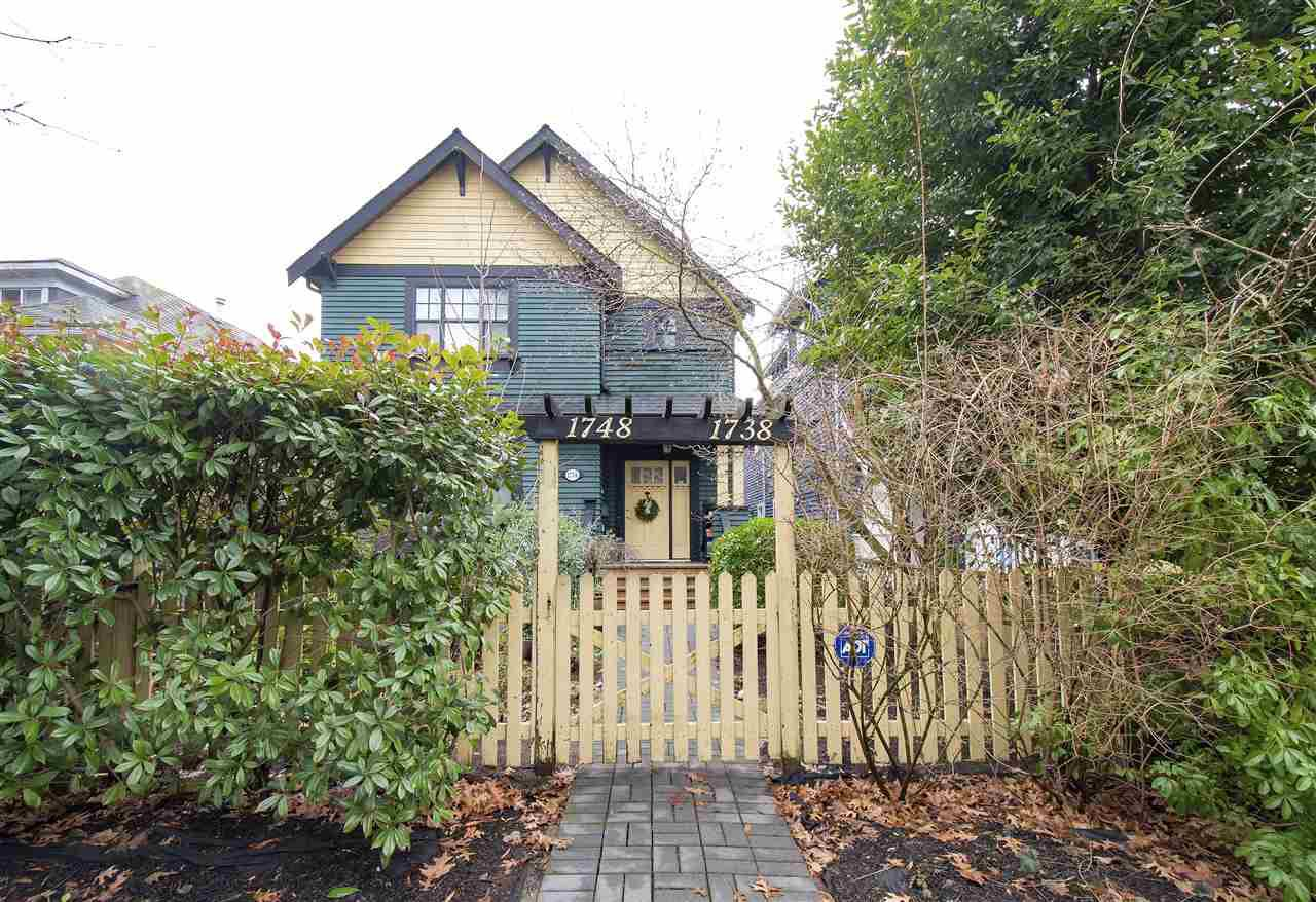 Main Photo: 1738 E 7TH Avenue in Vancouver: Grandview VE 1/2 Duplex for sale (Vancouver East)  : MLS®# R2328974