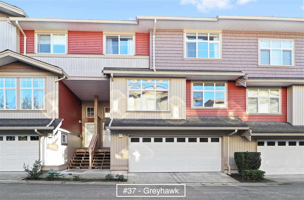 "Main Photo: 37 7518 138 Street in Surrey: East Newton Townhouse for sale in ""Greyhawk"" : MLS®# R2332671"