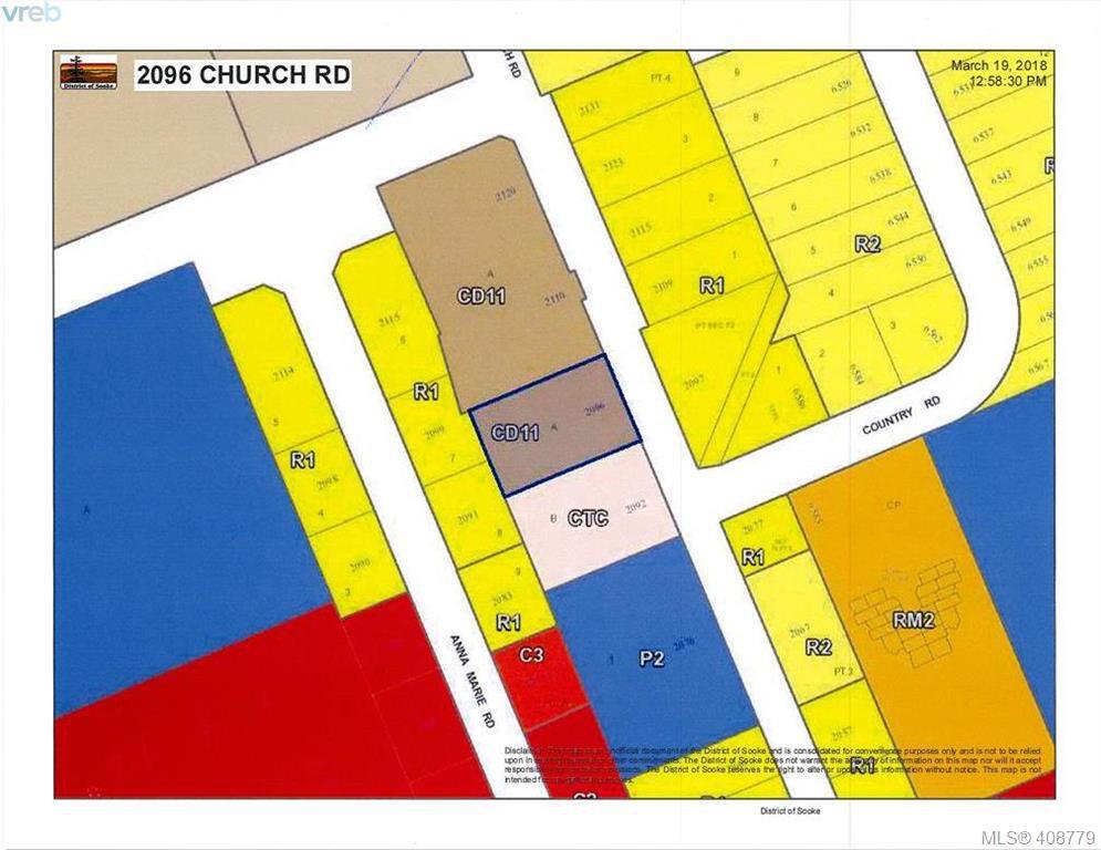Main Photo: 2096 Church Rd in SOOKE: Sk Sooke Vill Core Unimproved Land for sale (Sooke)  : MLS®# 812041