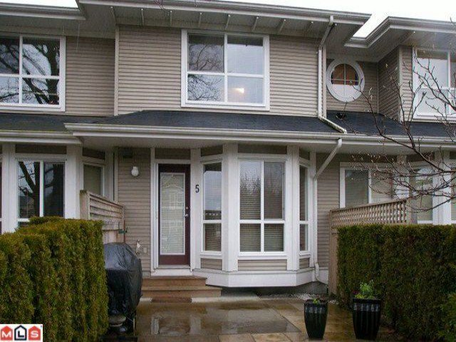 Main Photo: 5 8778 159TH Street in Surrey: Fleetwood Tynehead Townhouse for sale : MLS®# F1201106