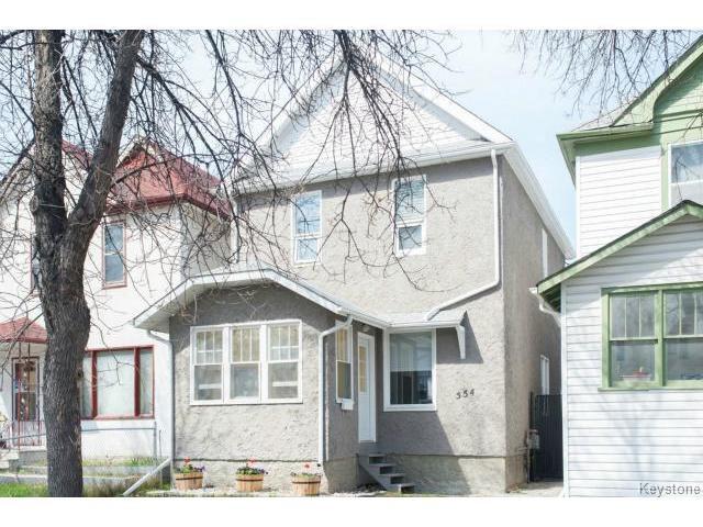 Main Photo: 554 Beverley Street in WINNIPEG: West End / Wolseley Residential for sale (West Winnipeg)  : MLS®# 1410900