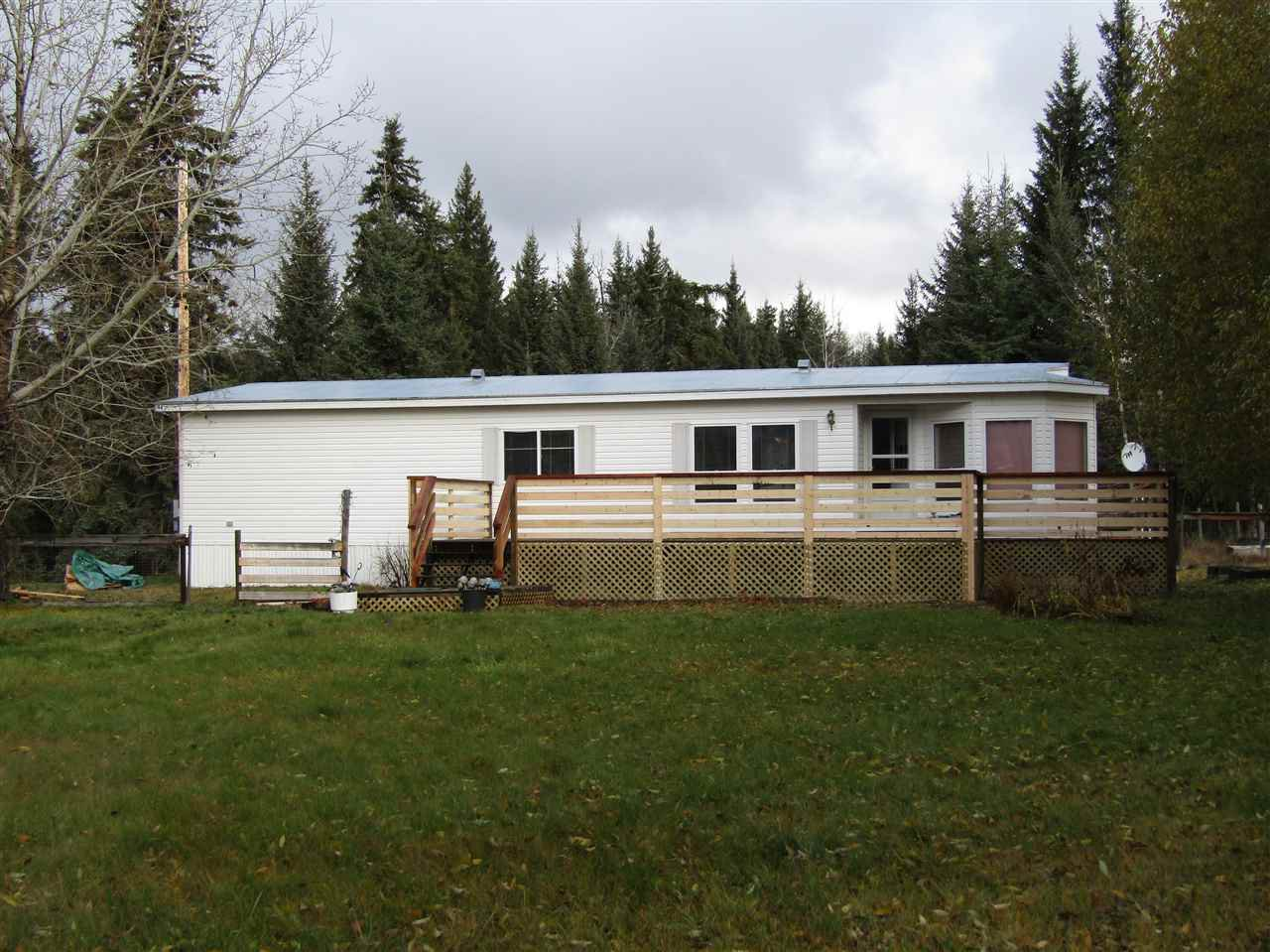 Main Photo: 2999 BIG LAKE-TYEE LAKE Road in Williams Lake: Williams Lake - Rural East Manufactured Home for sale (Williams Lake (Zone 27))  : MLS®# R2120027